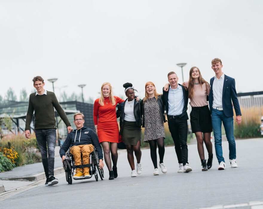 beeld groep studenten