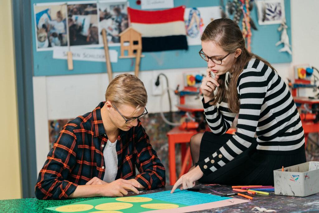 beeld van lerende studenten