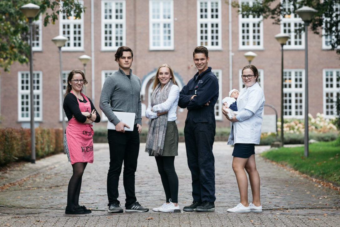 Studenten uit verschillende sectoren van het Hoornbeeck College